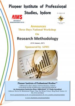 """Three Days National Workshop on """"Research Methodology"""""""