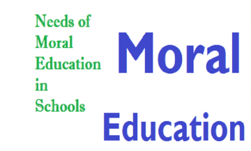 EDUCATION AND MORAL VALUES